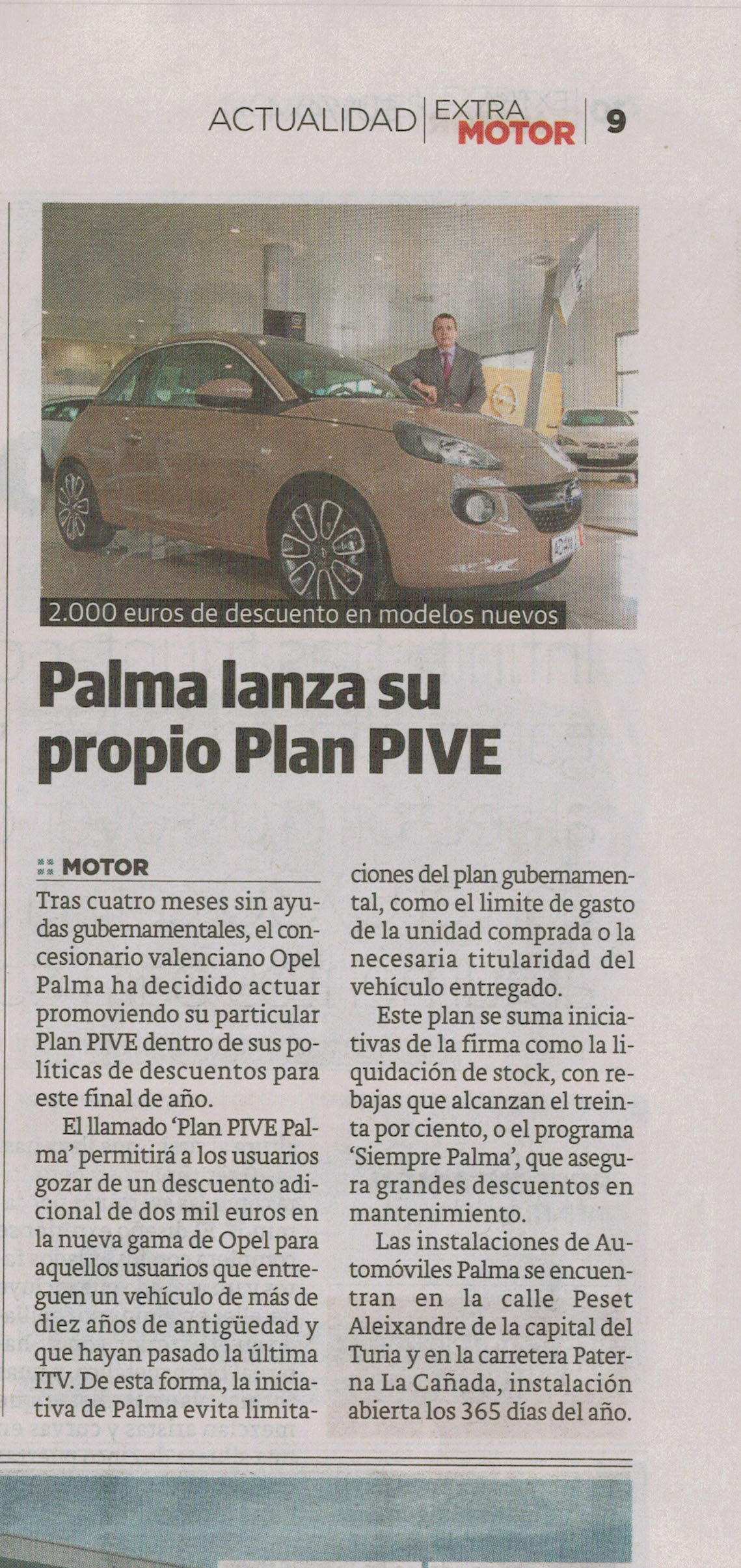 Palma lanza su propio Plan PIVE