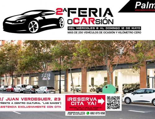 Hoy arranca la 2ªFeria oCARsión en Valencia – Más de 250 vehículos de ocasión y kilómetro cero